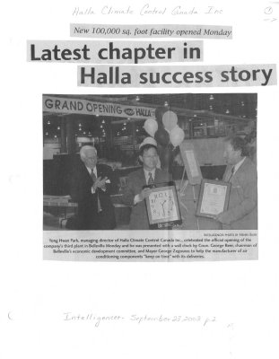 Latest chapter in Halla success story