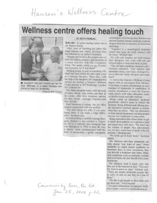 Wellness centre offers healing touch