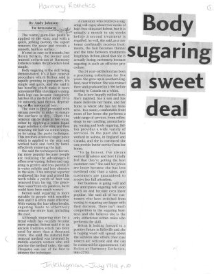 Body Sugaring a sweet deal