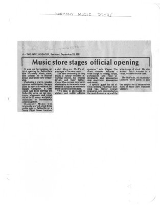 Music store stages official opening