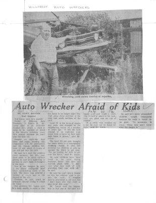 Auto wrecker afraid of kids