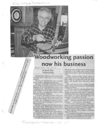 Woodworking passion now his business