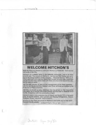 Welcome Hitchon's