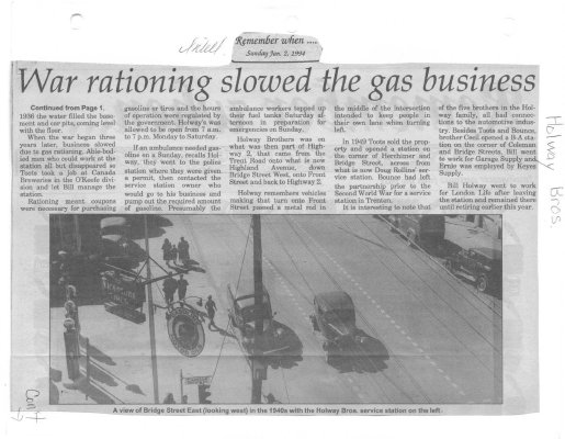 Remember When: War rationing slowed the gas business