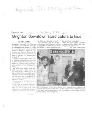 Brighton downtown store caters to kids