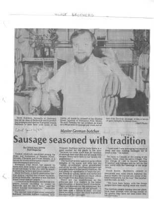 Sausage seasoned with tradition