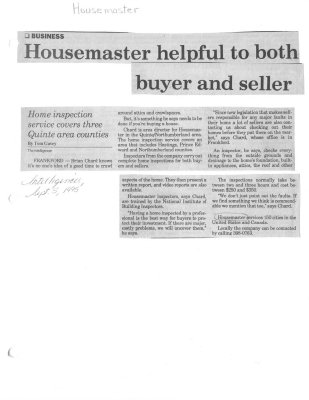 Housemaster helpful to both buyer and seller