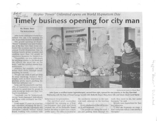 Timely business opening for city man