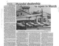 Hyundai dealership to open in March