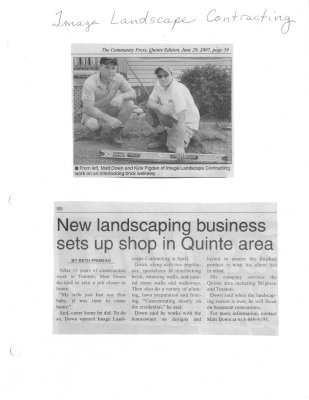 New landscaping business sets up shop in Quinte area