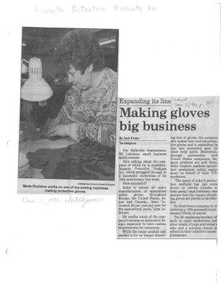 Making gloves big business