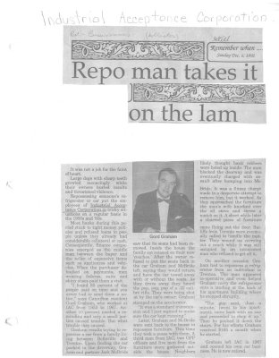 Remember when: Repo man takes it on the lam