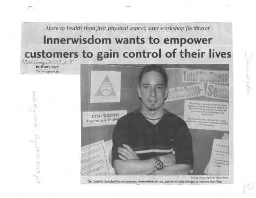 Innerwisdom wants to empower customers to gain control of their lives