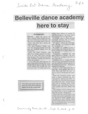 Belleville dance academy here to stay