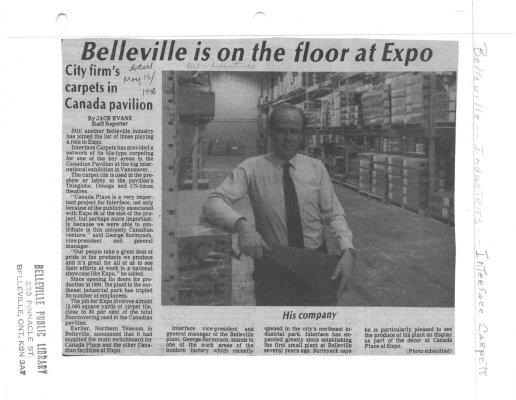 Belleville is on the floor at Expo