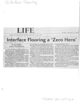 Interface Flooring a 'Zero Hero'