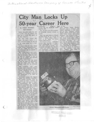 City Man Locks up 50-year Career Here