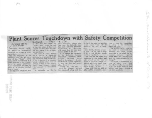 Plant Scores Touchdown with Safety Competition
