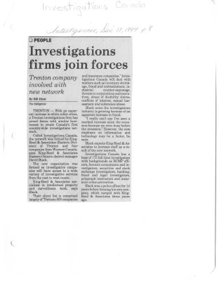 Investigations firms join forces