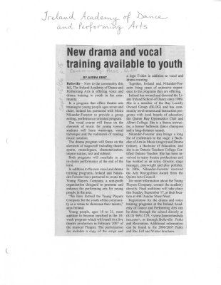 New drama and vocal training available to youth