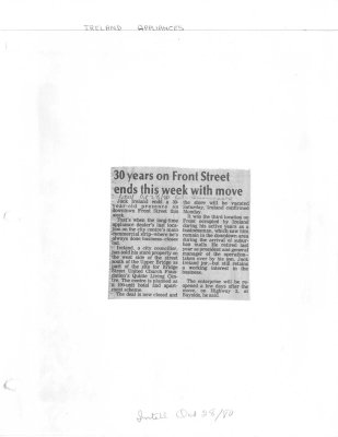 30 Years on Front Street ends this week with move