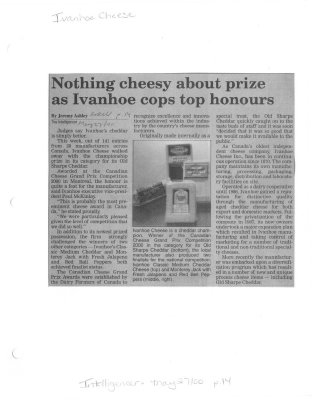 Nothing cheesy about prize as Ivanhoe cops top honours