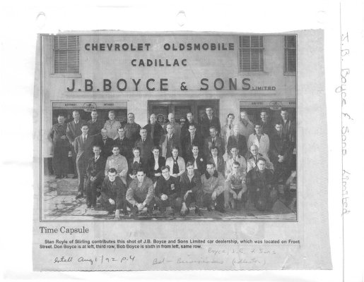 Time Capsule: J.B.Boyce & Sons