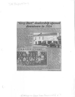 """Grey Dort"" dealership opened downtown in 1924"