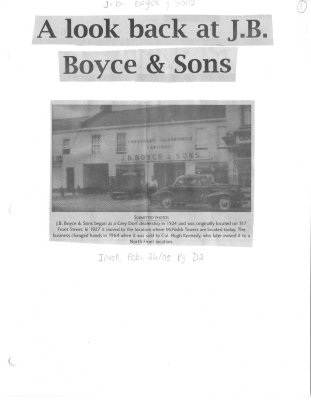 A look back at J.B. Boyce & Sons