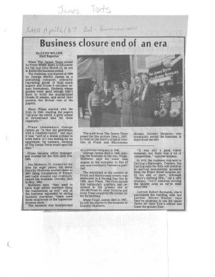 Business closure end of an era