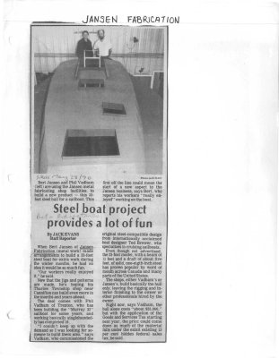 Steel boat project provides a lot of fun