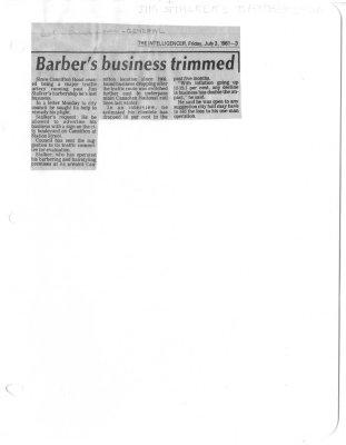 Barber's business trimmed
