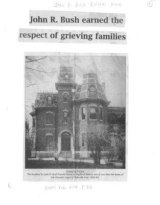 John R. Bush earned the respect of grieving families