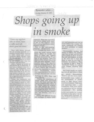 Shops going up in smoke