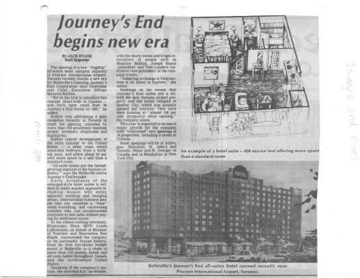 Journey's End begins new era
