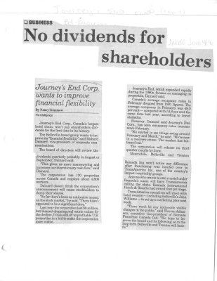 No dividends for shareholders