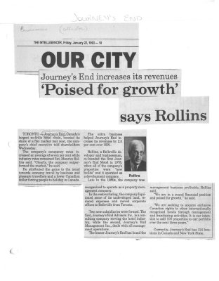 Poised for growth says Rollins