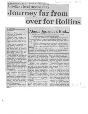Journey far from over for Rollins