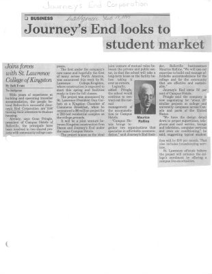 Journey's End looks to student market