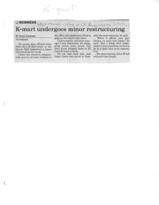 K-Mart undergoes minor restructuring