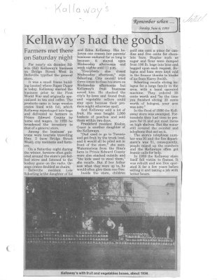 Kellaway's had the goods
