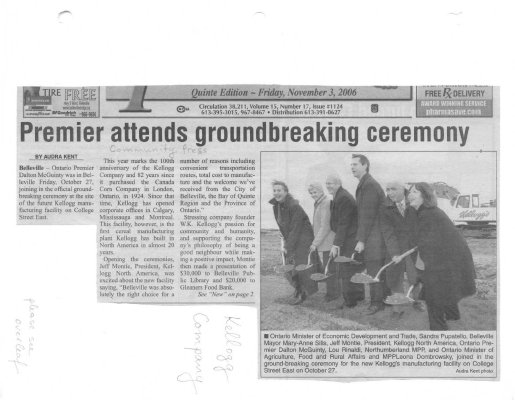 Premier attends groundbreaking ceremony