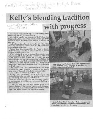 Kelly's blending tradition with progress