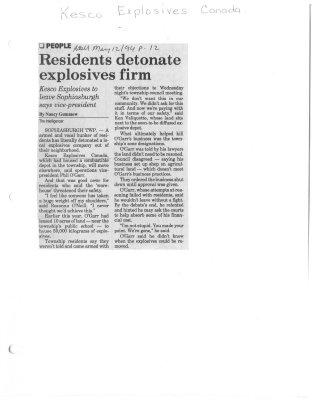 Residents detonate explosives firm