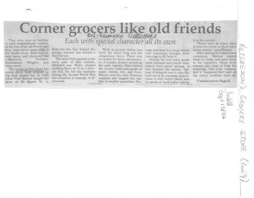 Corner Grocers like old friends