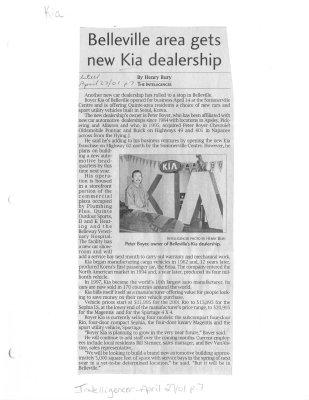 Belleville area gets new Kia dealership