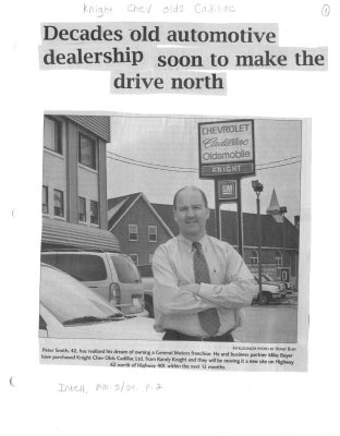 Decades old automotive dealership soon to make the drive north