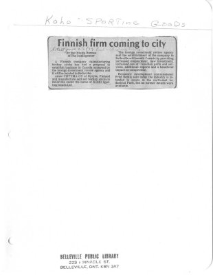 Finnish firm coming to city