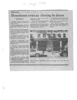 Downtown veteran closing its doors
