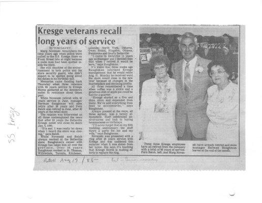 Kresge veterans recall long years of service